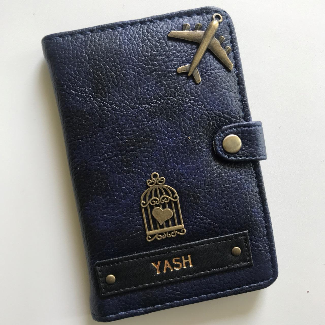 Button Passport Cover