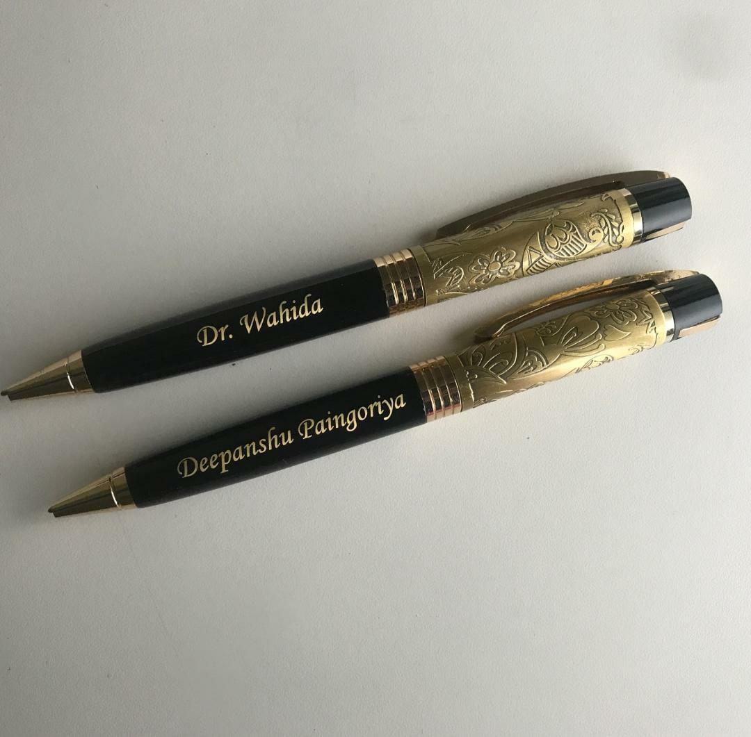 Golden Carved Pen
