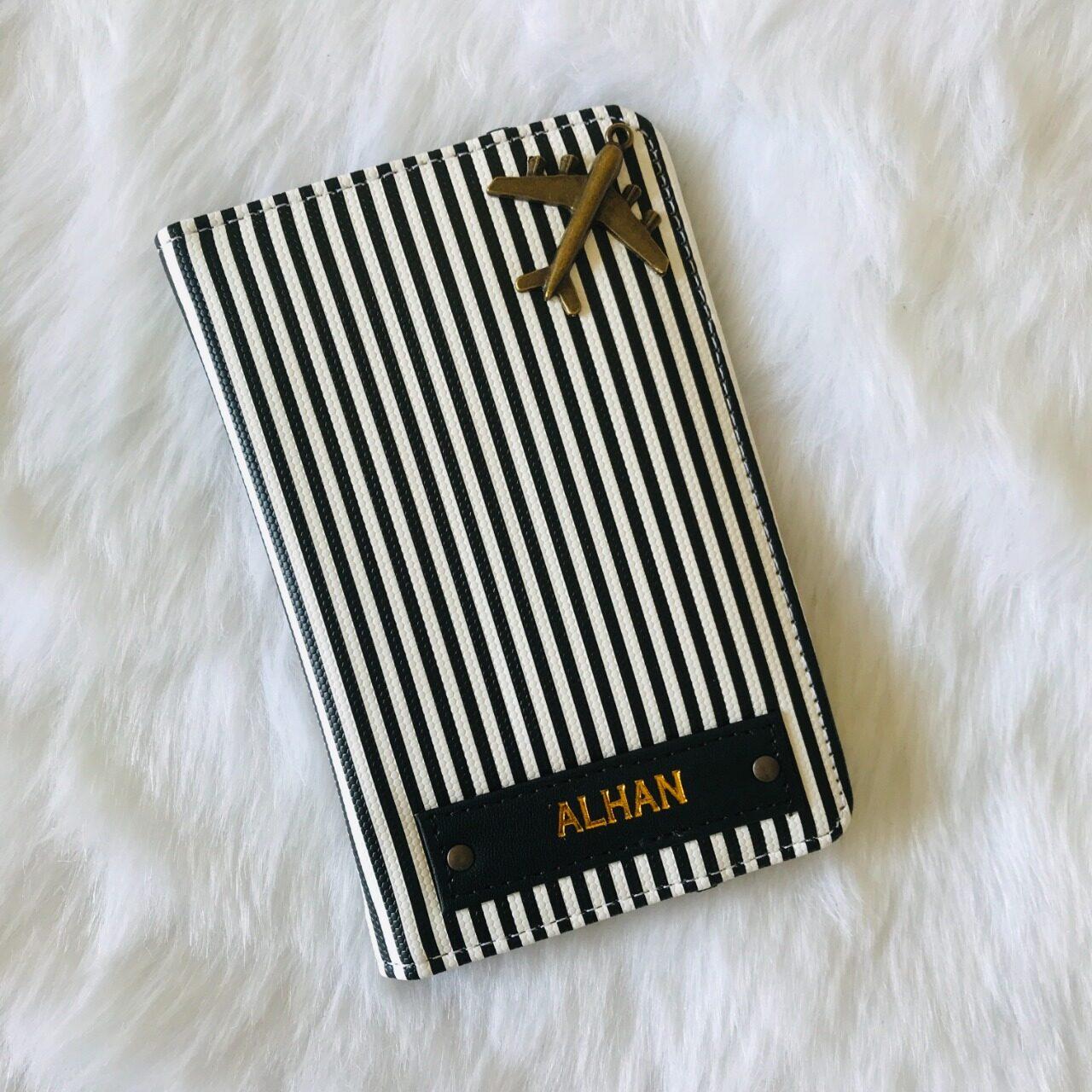 Stripe Passport Cover