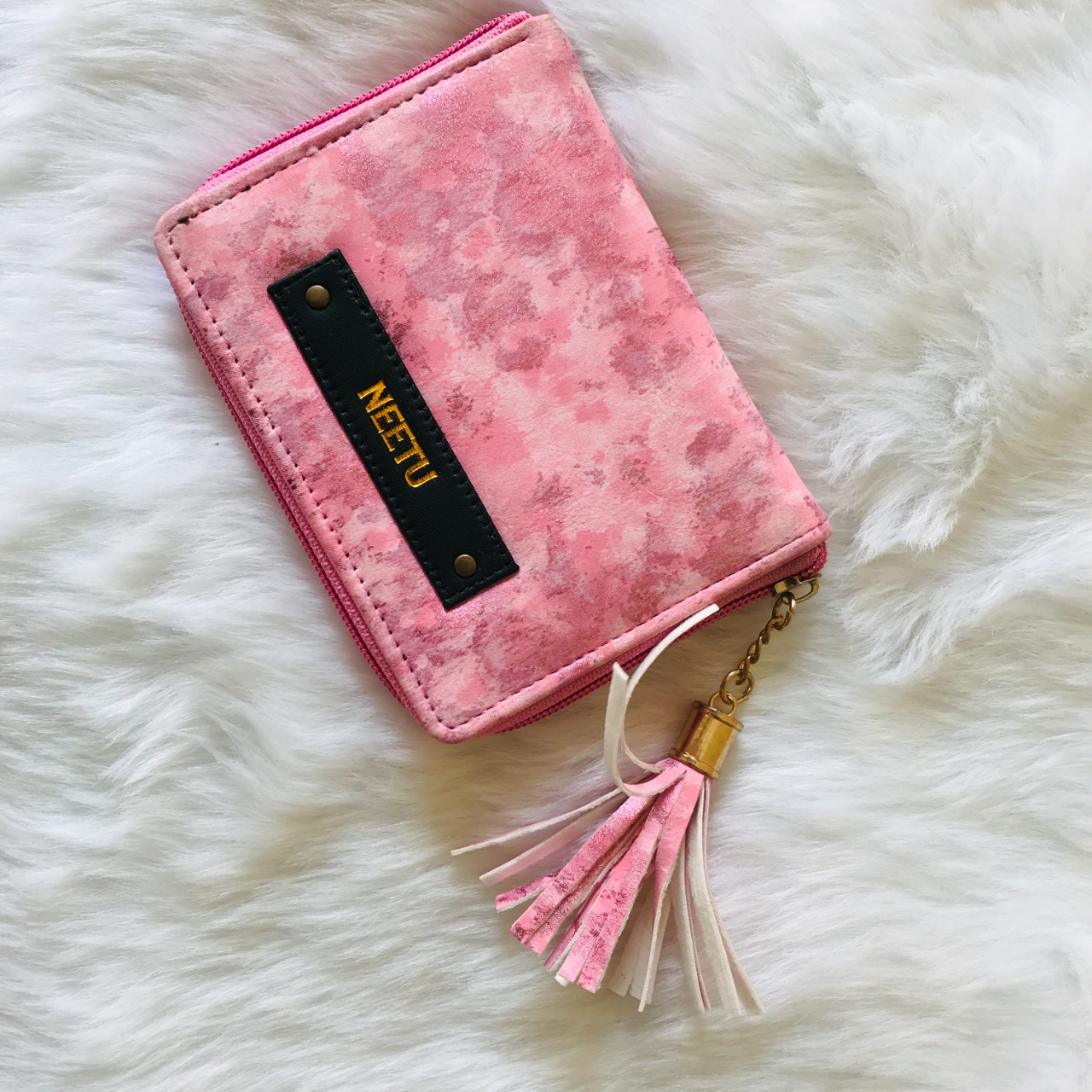 Tassle Marble Wallet